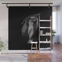 Lean on Me: Figure Drawing Study Wall Mural