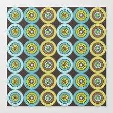 Retro rings Canvas Print