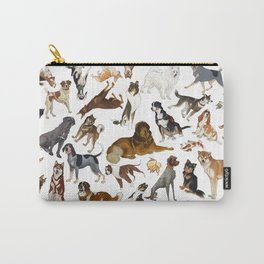 i love dogs Carry-All Pouch