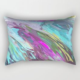 471 - Abstract colour Design Rectangular Pillow