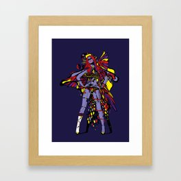 HATHOR ~ BLUE Framed Art Print