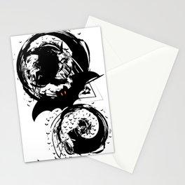Bats ink splash Stationery Cards
