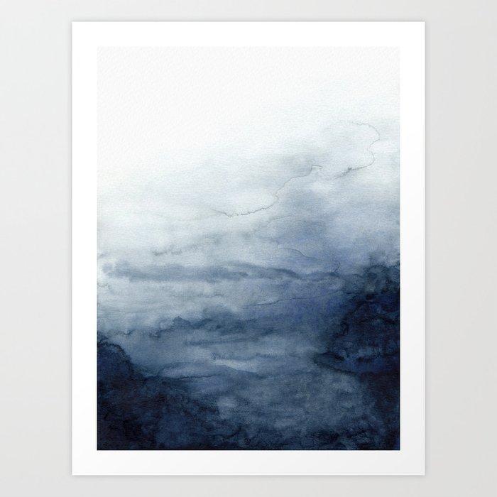 Indigo Abstract Painting | No.2 Kunstdrucke