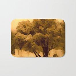 Sepia Juniper Tree by CheyAnne Sexton Bath Mat
