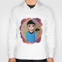 spock Hoodies featuring Spock by hannahroset