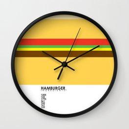 Pantone Food - Hamburger Wall Clock