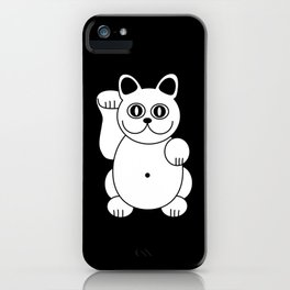 White Cat For Good Luck iPhone Case