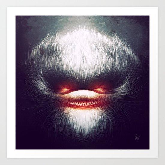 Furry Smile Art Print