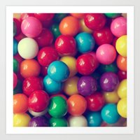 gumball Art Prints featuring Gumball Fun by Amelia Kay Photography