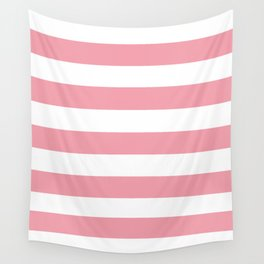 Sweet Sixteen - solid color - white stripes pattern Wall Tapestry