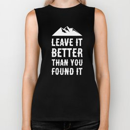 Leave It Better Than You Found It - Mountain Edition Biker Tank