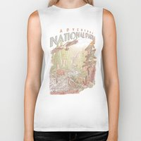 parks Biker Tanks featuring Adventure National Parks by Taylor Rose