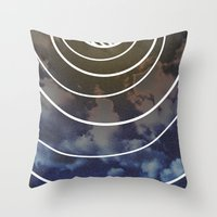 moon phases Throw Pillows featuring Moon Phases by rollerpimp
