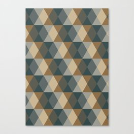 Caffeination Geometric Hexagonal Repeat Pattern Canvas Print