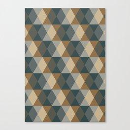 Caffeination Geometric Hexagonal Repeat Pattern Canvas Print