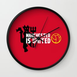 Manchester Is United Wall Clock