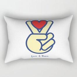 Love & Peace Rectangular Pillow