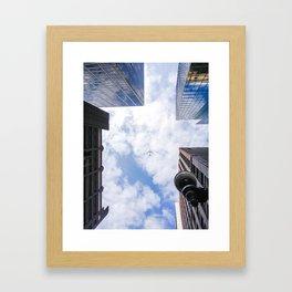 City Plane Framed Art Print