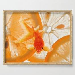 Orange Fish Serving Tray
