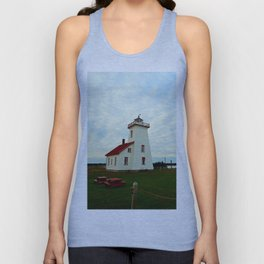 Lighthouse and Range Light of Wood Islands Unisex Tank Top