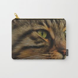 Aslan The Long Haired Tabby Cat Carry-All Pouch