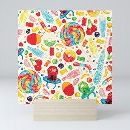 Candy Pattern - White Mini Art Print