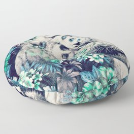 Floral Tiger Floor Pillow