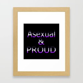 Asexual and Proud (black bg) Framed Art Print