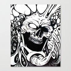 bio skull Canvas Print