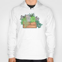succulents Hoodies featuring Succulents by Little Lost Garden