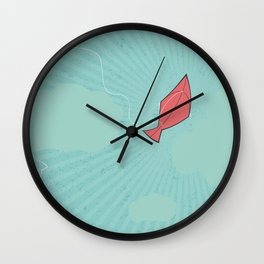 Turquoise Tranquility Wall Clock