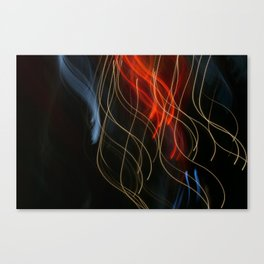 Abstract Drifting Light Trails Canvas Print