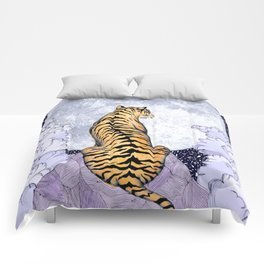 Tiger Moon | Colour Version Comforters