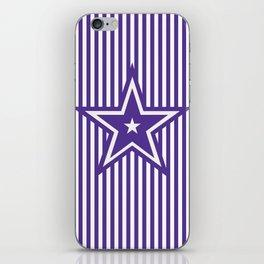 The Greatest Star - Purple Stripes iPhone Skin