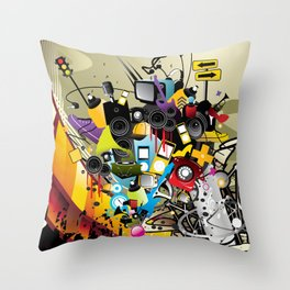 Sound System Space Throw Pillow