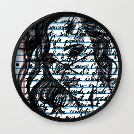 Loose Leaf Doodle: Lilith Remix Wall Clock