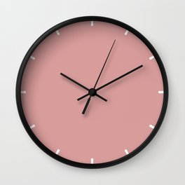 Pressed Rose | Pantone Fashion Color | Spring : Summer 2019 | London | Solid Color Wall Clock