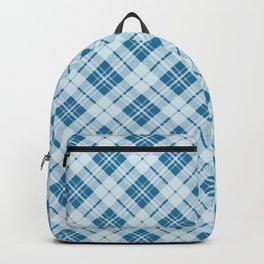 Adorable Light Blue Christmas tartan Backpack