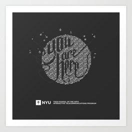 YOU ARE HERE  [Funfetti] Art Print