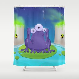 Atomic Frog Thing Shower Curtain