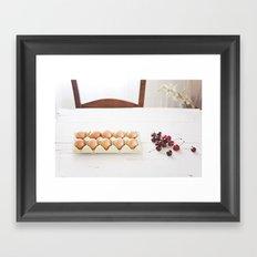 Cherries and eggs Framed Art Print
