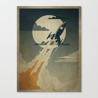 60s Canvas Prints featuring Night Launch by Danny Haas