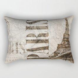 Vintage Paris eiffel tower illustration Rectangular Pillow