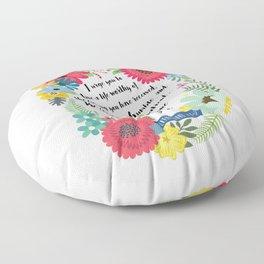 Ephesians 4:1-2 Floor Pillow