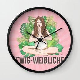 Ewig-Weibliche Wall Clock