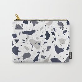 White Terrazzo Carry-All Pouch
