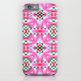 Indian Blanket Pink iPhone Case