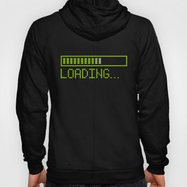 Green Loading Time Bar Hoody