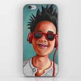 Crazy Ass Dood Hairdo iPhone Skin