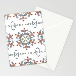 Hummingbird and Trumpet Flower Kaleidoscope Stationery Cards